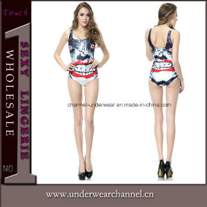 Sexy One Piece Multi Graphic Print Beachwear Swimwear Suit (3393) pictures & photos