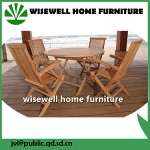 Wood Type Folding Outdoor Furniture with Umbrella pictures & photos