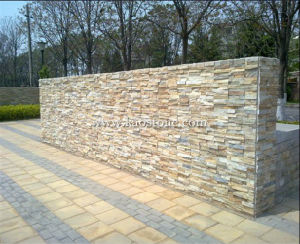 Popular Yellow Culture Stone for Landscaping Wall pictures & photos