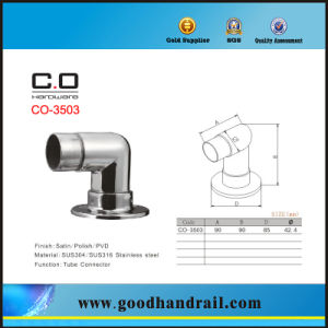 Round Tube Connector with Base Plate (CO-3503) pictures & photos
