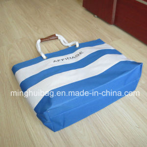 Promotional Stripe Printing Tote Beach Bag for Ladies pictures & photos