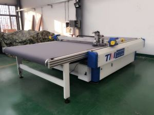 Ppopular Round Knife Cutting Machine for Glass Fabric/Glass Fabric with Iron Mesh pictures & photos