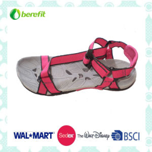 Pink PU Upper and TPR Sole, Women′s Sandals pictures & photos
