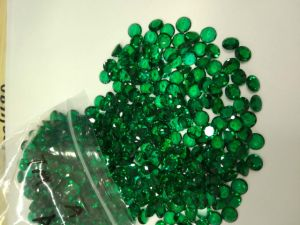 Lab Created Emerald Round Gemstone for Jewellery Setting pictures & photos