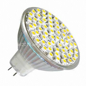 Dimmable 12V AC 6000K Cold White LED MR16 60 3528 SMD Bulb Lamp pictures & photos