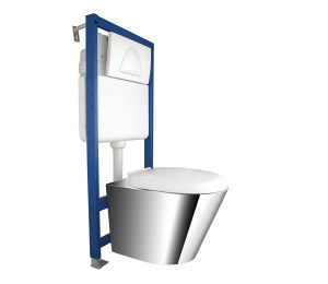 Ss304 High Quality Stainless Steel Wall Hung Toilet (JN49111E)