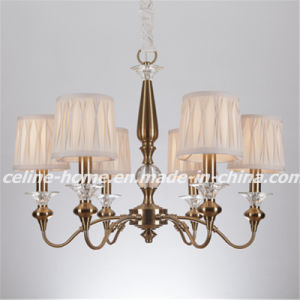 Iron Chandelier Lighting with Fabric Shade (SL2073-6) pictures & photos