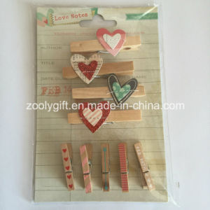 Wooden Shaped Clothespin / Decorative Mini Wood Pegs pictures & photos