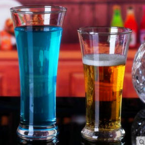Fashion Design Glass Beer Cup Cold Drink Cup pictures & photos