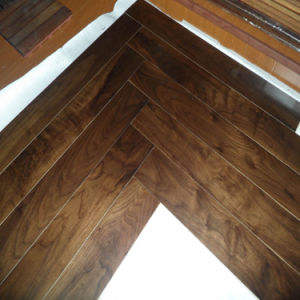Floating Syetem Black American Engineered Walnut Wood Floorings