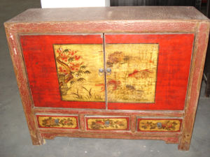 Mongolia Style Hand Painted Wooden Cabinet Lwb414 pictures & photos