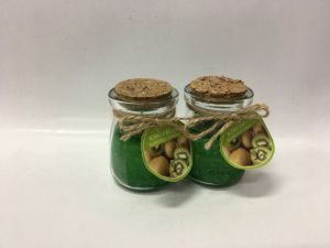 Newest Kiwi Fruit Glass Jar Candle with Wood Lid pictures & photos