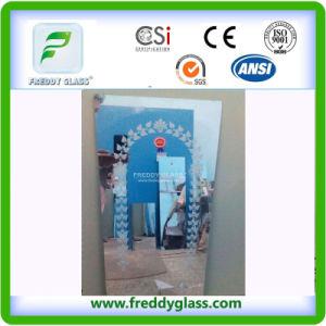 2-3mm Aluminium Mirror with Blue Back /Bathroom Mirror/Decorative Mirror pictures & photos
