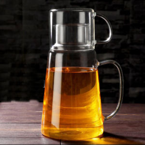 Creative Design Borosilicate Glass Juice Jug Glass Pitcher pictures & photos