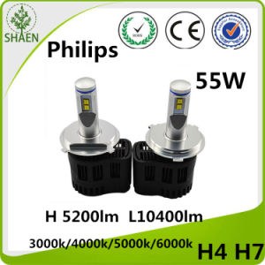 Super Bright H 10400 Lm L5200lm Philips LED Headlight Kit H4h/L pictures & photos
