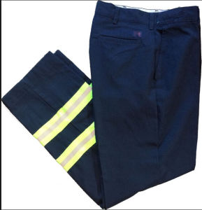 Navy Blue Hi-Vis Reflective Yellow Fashion Road Trousers Pants pictures & photos