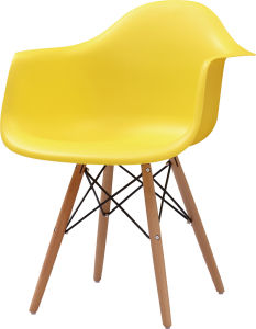 Modern Designer Chair Yellow Plastic Chair (FOH-BCC10) pictures & photos
