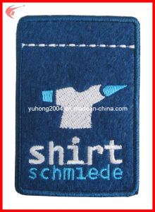 Felt Embroidered Badge with Overlock Edge (YH-WB025) pictures & photos