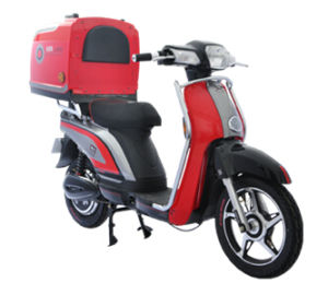 China Electric Motorcycle with Big Rear Box and Pedals pictures & photos