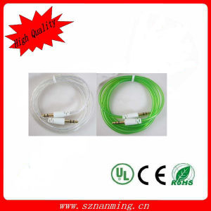 Colorful DC 3.5mm Male to 3.5mm Male Aux Audio Cable pictures & photos