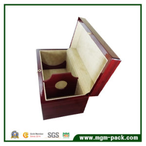 Customized Red High Glossy Polished Wooden Wine Box pictures & photos