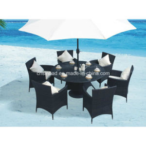 Wicker Dining Table for Outdoor, Indoor with 6 Chairs / SGS (8214) pictures & photos