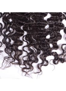 13X4 Deep Wave Virgin Hair Lace Frontal Closure Natural Hairline Bleached Knots Lace Frontals with Baby Hair pictures & photos