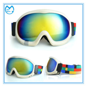 White Anti-Fog Racing Anti Impact Sports Mask Ski Goggles pictures & photos