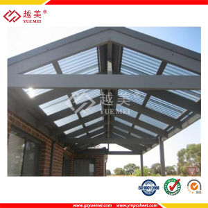 UV Coating Polycarbonate Roofing Sheet (YM-PC-028) pictures & photos