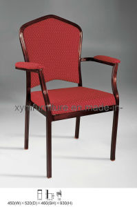 China Comfortable Good Quality Stackable Aluminum Metal Hotel Banquet Chair with Armrest (XYM-L44) pictures & photos