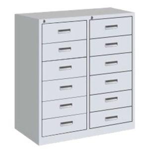 12-Drawer Office Metal Cabinet Sliding Locker pictures & photos