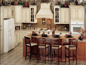 Custom Made Solid Wood Kitchen Cabinet Kitchen Furniture Cupboard pictures & photos