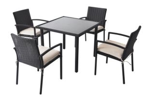 Steel Dining Square Table Set Outdoor Dining Set