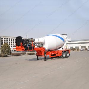 Twin Axle Heavy Duty Concrete Mixer Semi Trailer pictures & photos