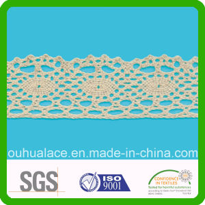 Braided Lace with Eye Shape in Center Cotton Lace Fabric