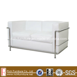 LC2 Modern Office Leather Sofa with Stainless Frame (2 Seat) pictures & photos