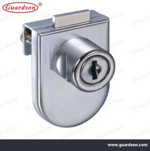 Glass Door Locks, Zinc Alloy with Brass Cylinder (504002) pictures & photos