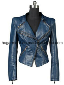 Fashion Punk PU Jackets for Lady/Women, Leather Coats pictures & photos