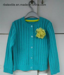Children Girls Cardigan with Corsage pictures & photos