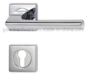 High Quality Zinc Alloy Door Handle on Rose - 204 pictures & photos