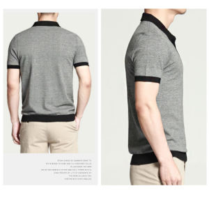 Grey Short Sleeves Business Pique Men Polo pictures & photos