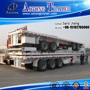 40ft Tri Axle Flatbed Semi Trailer for Container Transportation pictures & photos