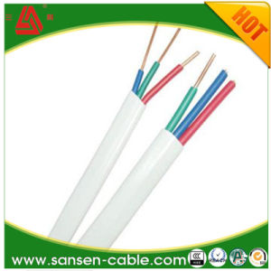 Flat Cable BVV Solid Conductor Insulation PVC Cable pictures & photos