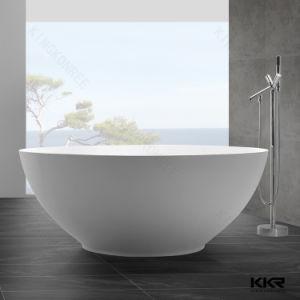 Kkr Sanitaryware Resin Stone Solid Surface Soaking Bathtub pictures & photos