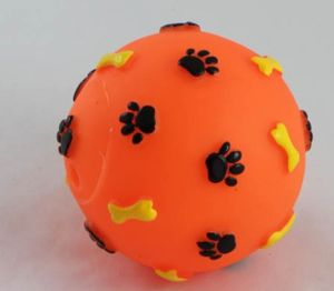 Pet Dog Foot &Bone Printed Leakage Ball Toys, Pet Products pictures & photos