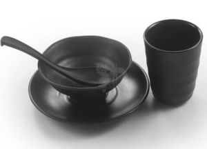 Melamine Tableware, M0elamine Dinnerware Melamine Matte Black Design in China pictures & photos