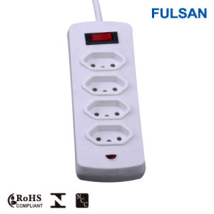 2-6 Ports Extension Socket Electrical Power Strip with LED Indicator pictures & photos