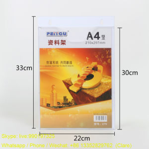 Plastic Acrylic Display Holders for A4 Size Brochures pictures & photos