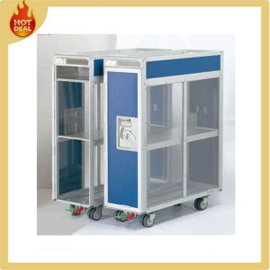 Aluminum Alloy 4 Wheels Aircraft Goods Service Trolley pictures & photos