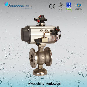 Q641f-16p/R Pneumatic Flange Ball Valve (CW Solenoid Valve, Switch Box, Triplet) pictures & photos